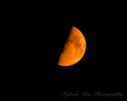The Moon with haze from wildfires