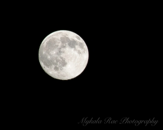 The Moon on a normal night